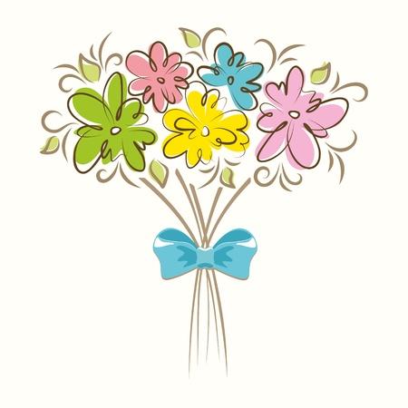 Illustration pour Bouquet of beautiful flowers  Floral background  - image libre de droit