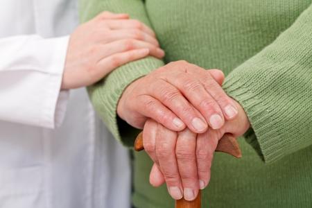 Photo pour Elderly home care have cultural and geographic differences - image libre de droit