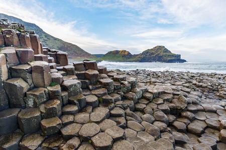 Basalt columns of Giants Causeway in Ireland