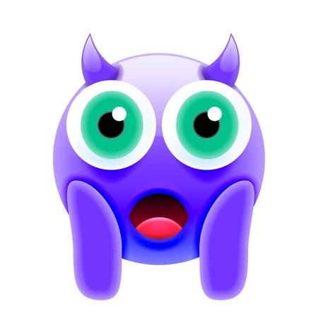 Illustration pour Face Screaming in Fear Devil Emoji. Scared Face Icon - image libre de droit