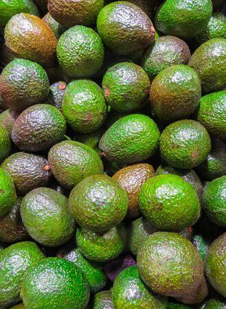 Foto für box of ripe avocado fruit on the shelf in the store - Lizenzfreies Bild