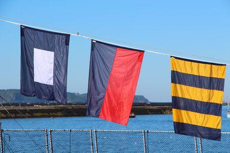 Photo pour Flags of International Maritime - image libre de droit