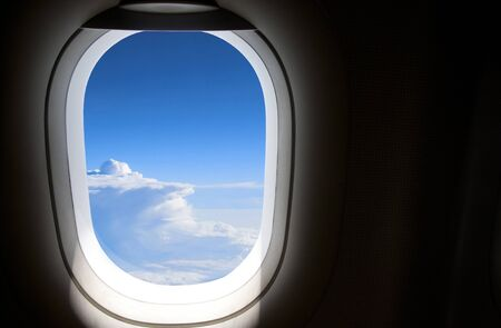 View from the plane s window seat