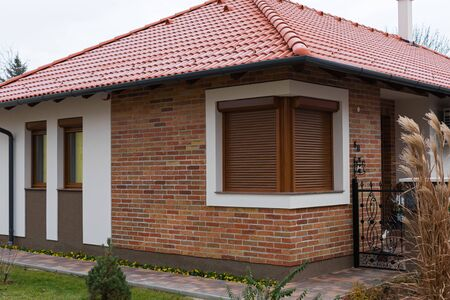 Photo pour Picture of a modern family house in Gyula, Hungary - image libre de droit