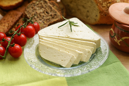 Selection of cheese - organic dairy products