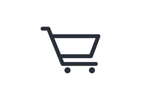 Ilustración de Shopping chart icon vector symbol template. Cart. Shop. Store. e-commerce. Market. Commercial. App store. Shop. Buy. e-shop. Hypermarket. Marketing. Comes out. Supermarket. Buyer. Add. - Imagen libre de derechos