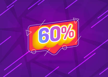 Ilustración de 60% OFF Sale. Discount Price. Special Offer Marketing Ad. Discount Promotion. Sale Discount Offer. 55% Discount Special Offer Banner Design Template. Gradient. - Imagen libre de derechos