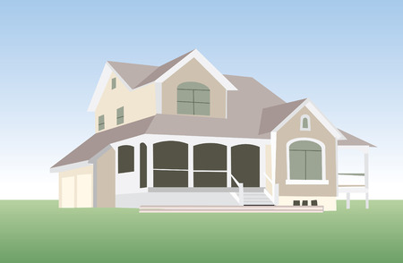 house in vector mode for edit