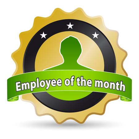 golden ribbon for the employee of the month