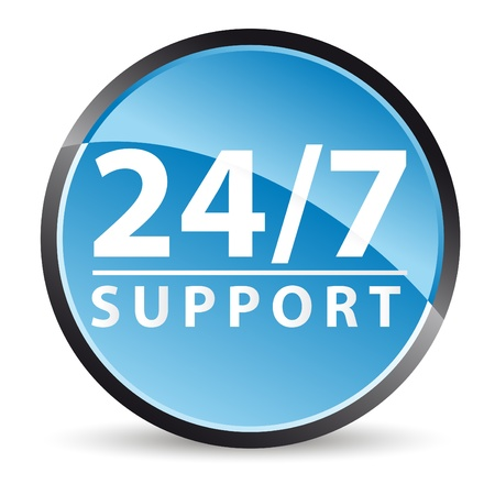 support icon 24/7 all time service