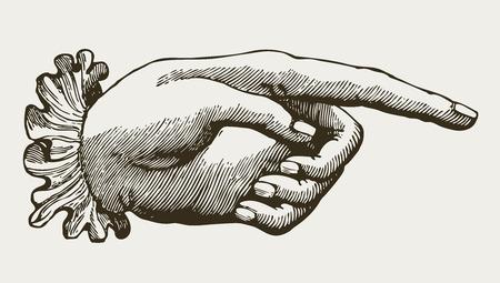 Illustration pour Vintage Lady Hand, victorian style - image libre de droit