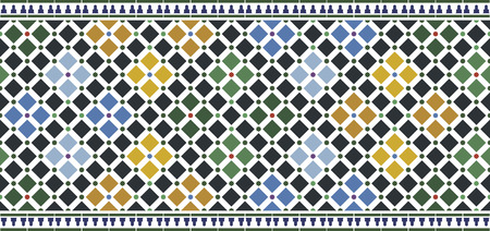 Illustration pour wall tiles alhambra design - image libre de droit