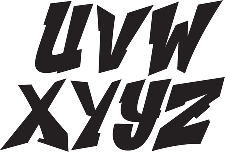 graffiti font alphabet part 3: Royalty-free vector graphics