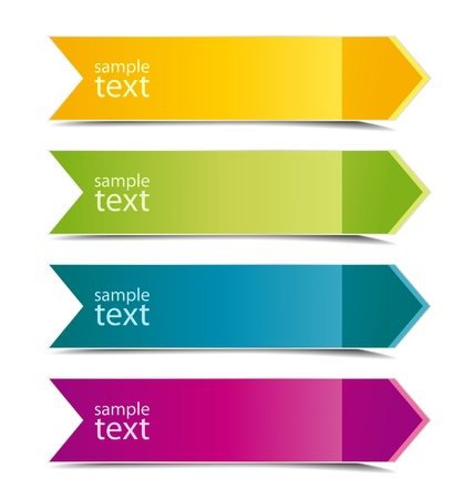 Collection of color arrows with place for text