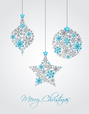 Christmas ornaments made from snowflakes vector illustrationのイラスト素材