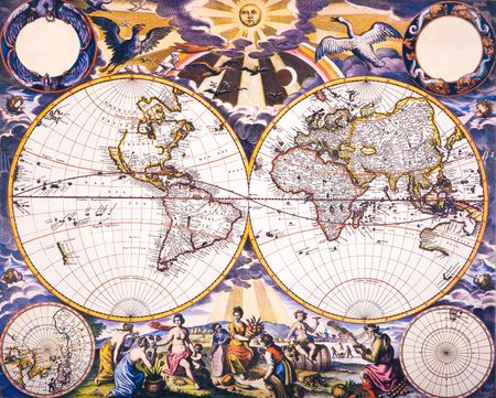 World Antique Map - An antique map of the world