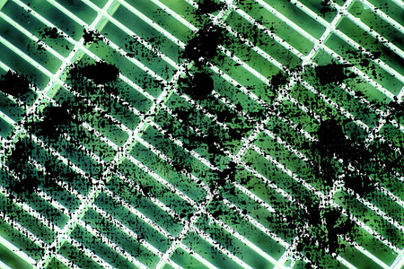Grunge Ultra green Steel ground lattice. Stainless steel texture, background for web site or mobile devices.