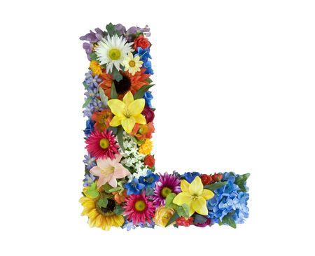 Flower Alphabet - L
