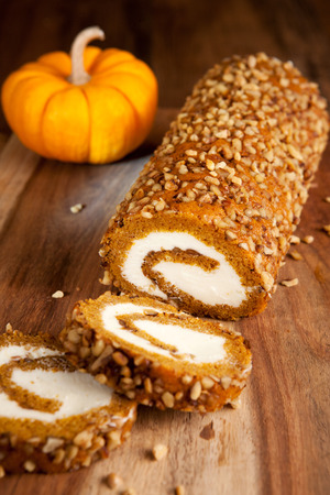 Photo for Pumpkin roll - Royalty Free Image