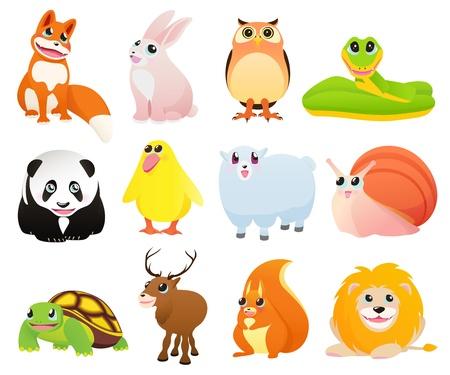Foto de Cartoon animals - Imagen libre de derechos