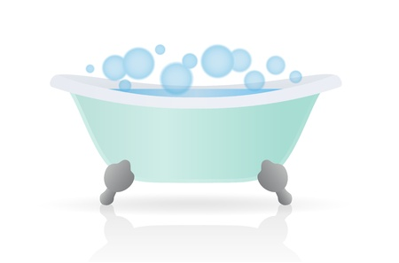 Cartoon Bath. Vector illustration on white background