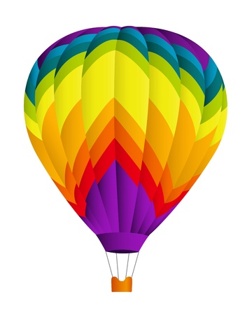 Hot air balloon  Vector illustration on white background