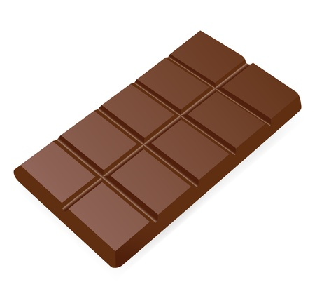 Bar of chocolate. Vector illustration on white background