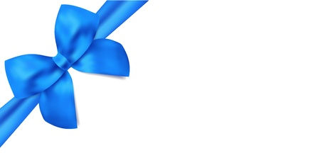 Gift certificate   voucher template with isolated blue bow  ribbons
