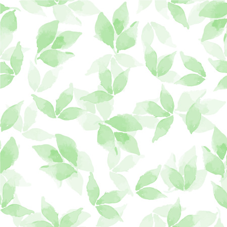 Ilustración de Floral background. Watercolor leaves in vector 4 - Imagen libre de derechos