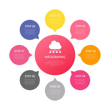 Illustration pour Various business infographic, infographic chart, vector infographic elements - image libre de droit