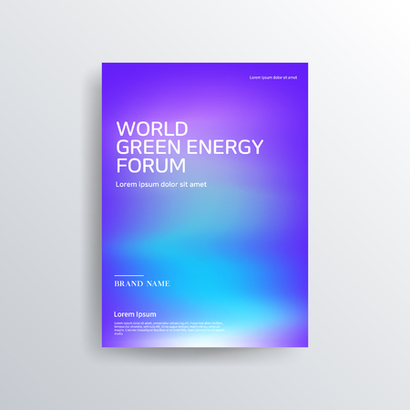 Illustration pour Colorful color brochure design, abstract cover design, iridescent background - image libre de droit