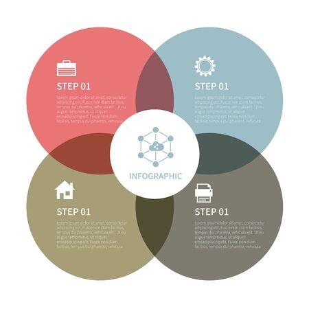 Photo pour Various business infographic, infographic chart, vector infographic elements - image libre de droit