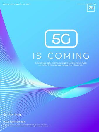 Illustration pour Advanced technology background, Abstract 5G concept illustration, big data - image libre de droit