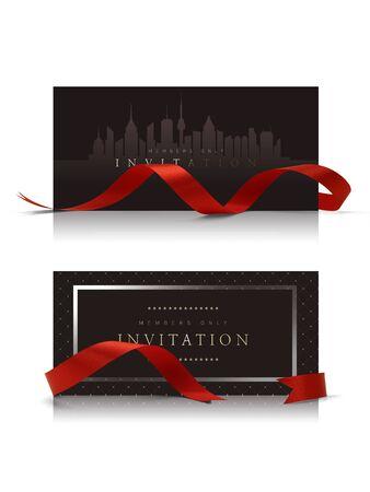 Photo pour luxury invitation card, voucher frame & banner - image libre de droit