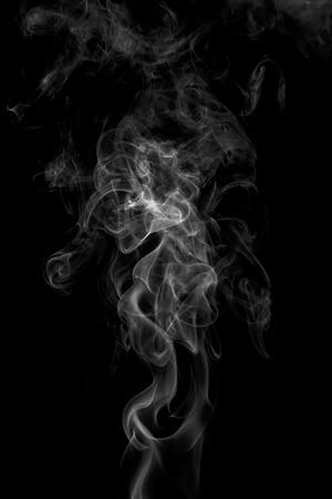 Foto de colorful smoke on dark background - Imagen libre de derechos