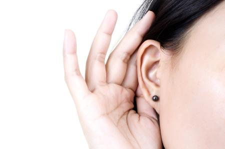 Woman listening.