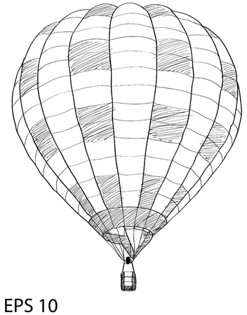 Hot Air Balloon Sketch Up line