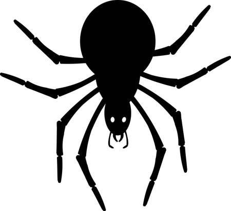 Illustration pour Black silhouette small spider - image libre de droit