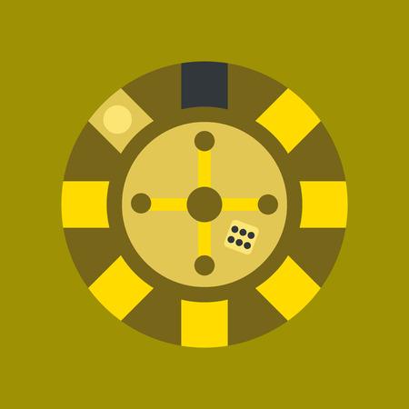 flat icon on stylish background poker roulette casino