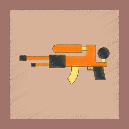 flat shading style icon Kids toy water gun