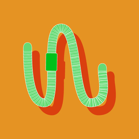 paper sticker on stylish background of worm