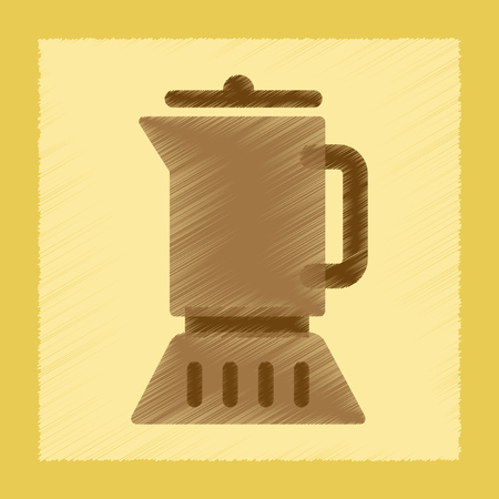 flat shading style icon coffee maker
