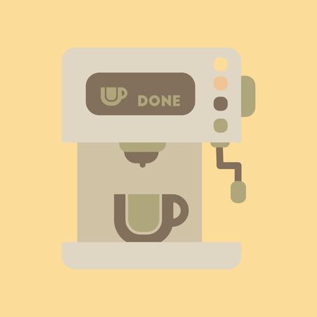 Flat icon on background coffee electronic machine