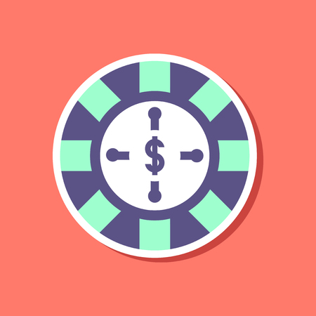 paper sticker on stylish background roulette casino