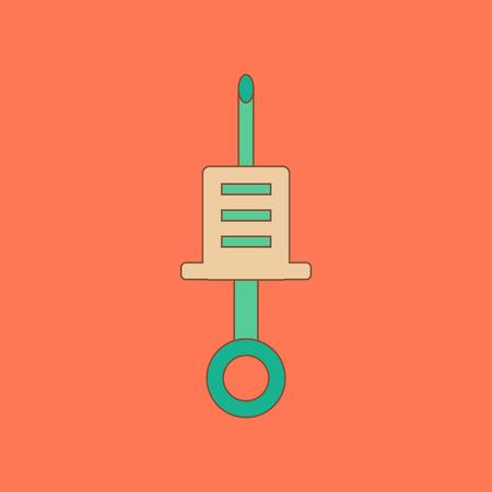 flat icon on background Kids toy syringe