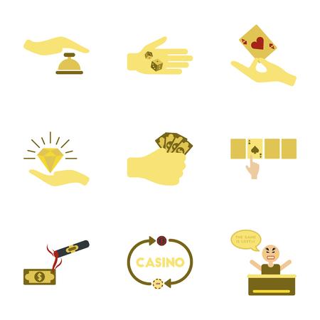 Set of casino symbols.