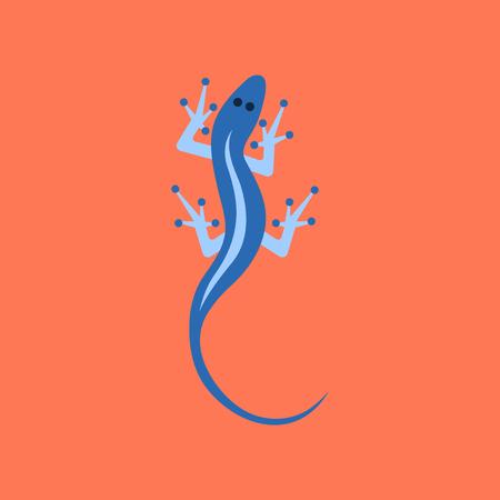 flat icon on stylish background lizard reptile