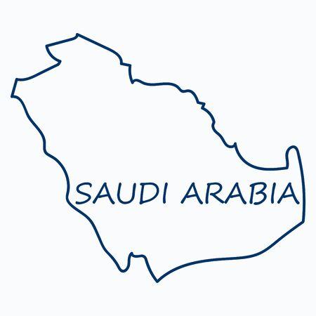 Illustration pour Saudi Arabia map with flag - image libre de droit