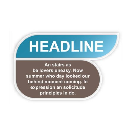 headline sign. headliner paper origami speech bubble. headliner tag. headline banner