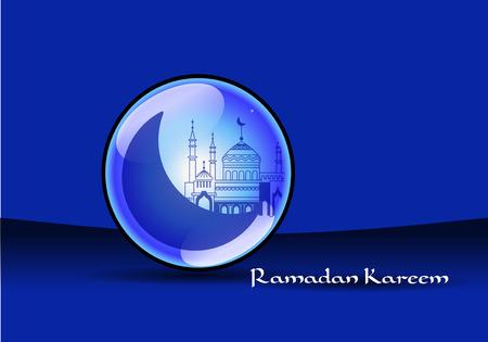 Illustration pour Mosque ramadan kareem - image libre de droit